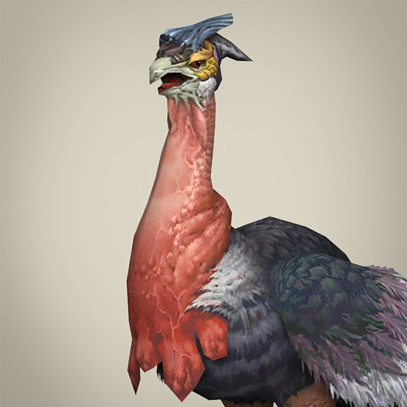 Game Ready Fantasy Ostrich - 3DOcean Item for Sale
