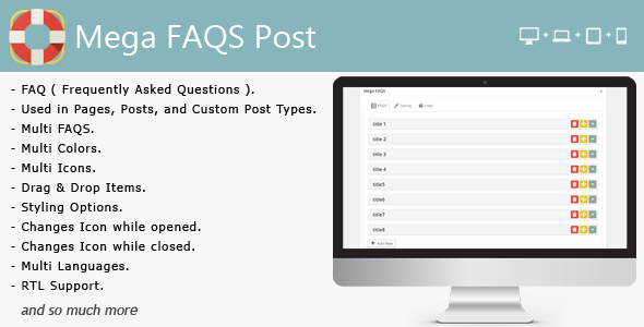Mega FAQS Post - CodeCanyon Item for Sale