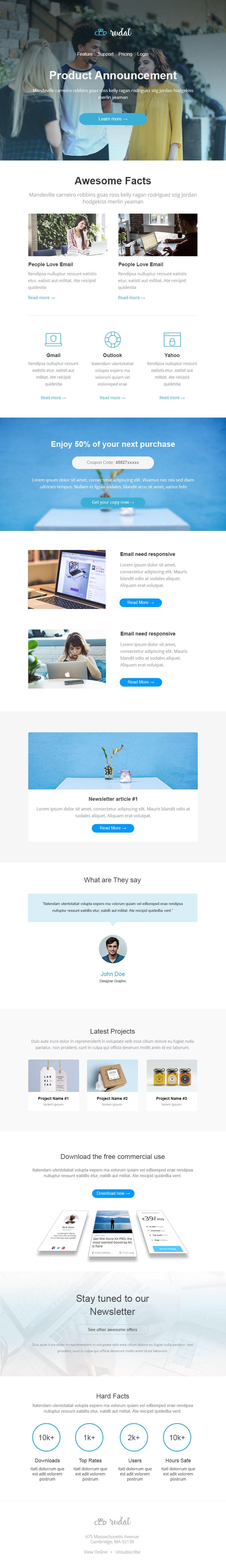 Rudal - Responsive Email Template + Bonus