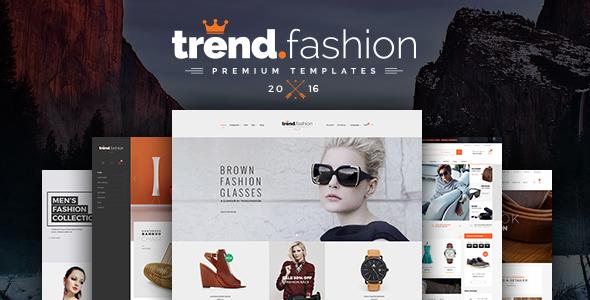Trend Fashion – Multipurpose PSD Templates