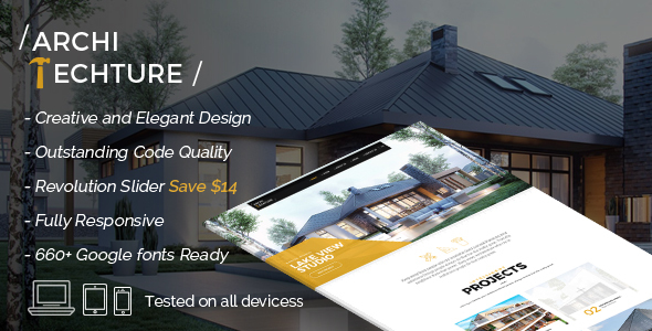Architecture - Portfolio, Design & Architect Template - Corporate Site Templates