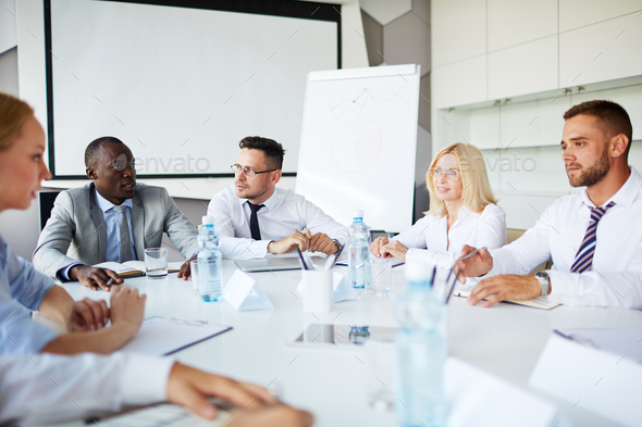 Discussion of strategies - Stock Photo - Images