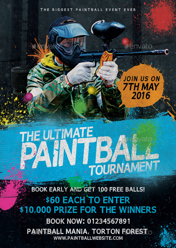 Paintball Tournament Flyer Template By Mattm3 Graphicriver