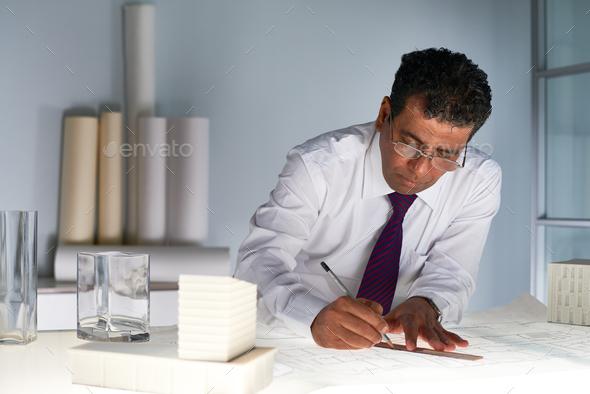 Architect working - Stock Photo - Images