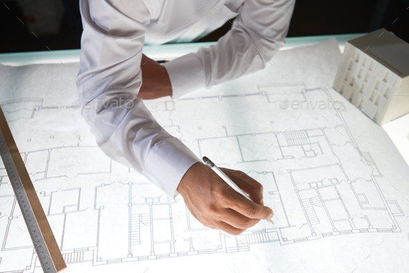 Sketch of construction - Stock Photo - Images