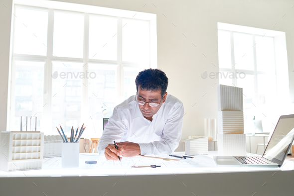 Architect in office - Stock Photo - Images