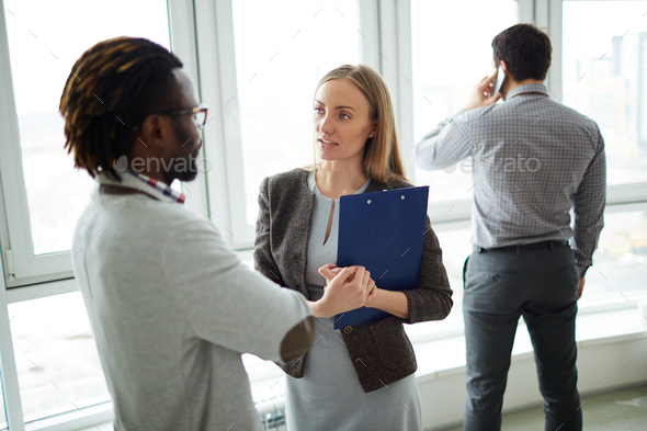 Interaction of colleagues - Stock Photo - Images