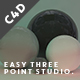 Easy Three Point Light Studio - Xpresso Controls - 3DOcean Item for Sale