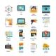 Digital Marketing Flat Icons Set - GraphicRiver Item for Sale