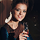 Young Girl Smiling And Drinking - VideoHive Item for Sale