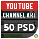 Multipurpose Youtube Channel Art - 50 Designs - GraphicRiver Item for Sale