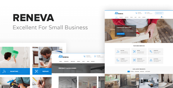 Reneva -  Small Business HTML Template - Business Corporate