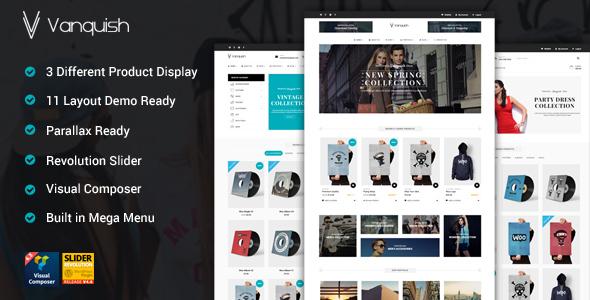 Vanquish - Multi Product Display eCommerce Theme - WooCommerce eCommerce