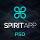 SpiritApp - App Landing Page PSD Template - ThemeForest Item for Sale