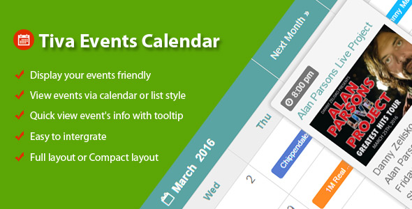 Tiva Events Calendar - CodeCanyon Item for Sale