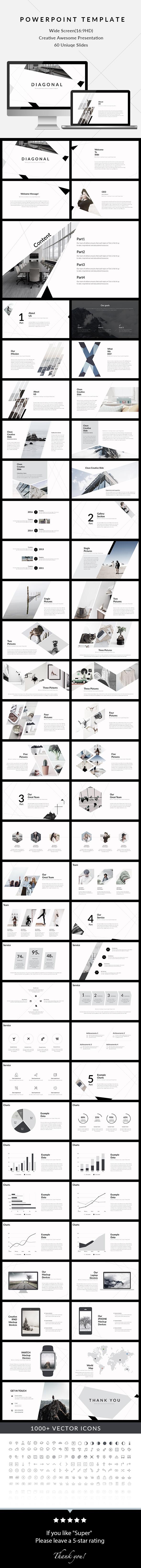 Diagonal - Clean & Creative PowerPoint Presentation