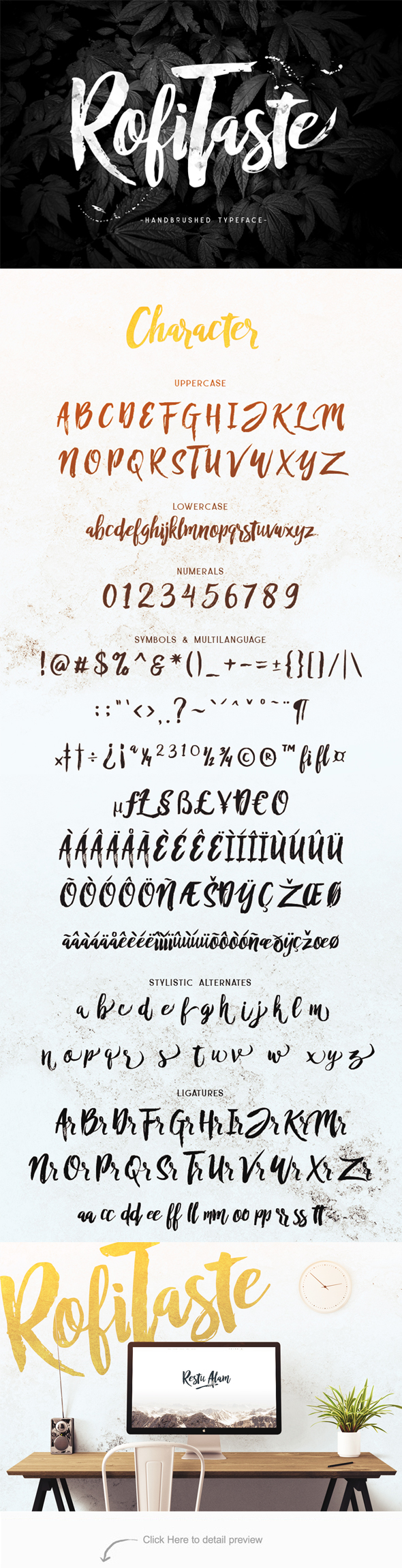 RofiTaste Typeface - Hand-writing Script