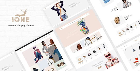 iOne – Drag & Drop Minimal Responsive Shopify Theme