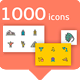 Vector line icon 1000 set - GraphicRiver Item for Sale