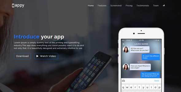 Appy - App Landing Page HTML - Apps Technology
