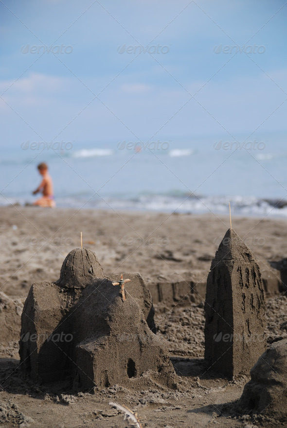 sandcastle - Stock Photo - Images