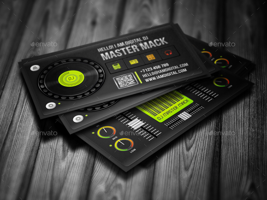 Digital dj business card by vinyljunkie graphicriver digital dj business card reheart Choice Image