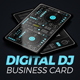 Digital DJ Business Card - GraphicRiver Item for Sale