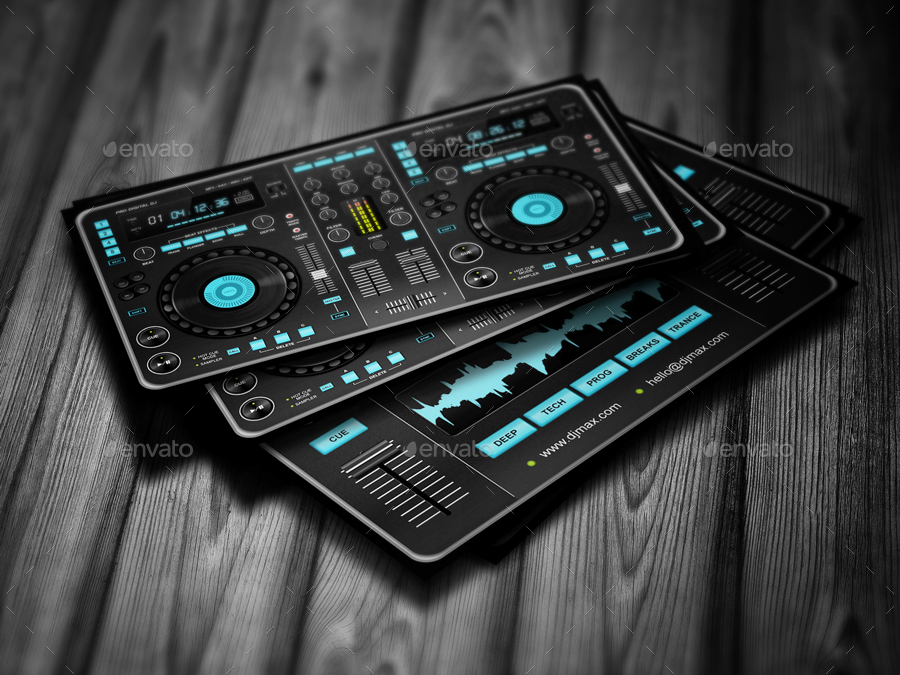 Digital DJ Business Card by vinyljunkie | GraphicRiver