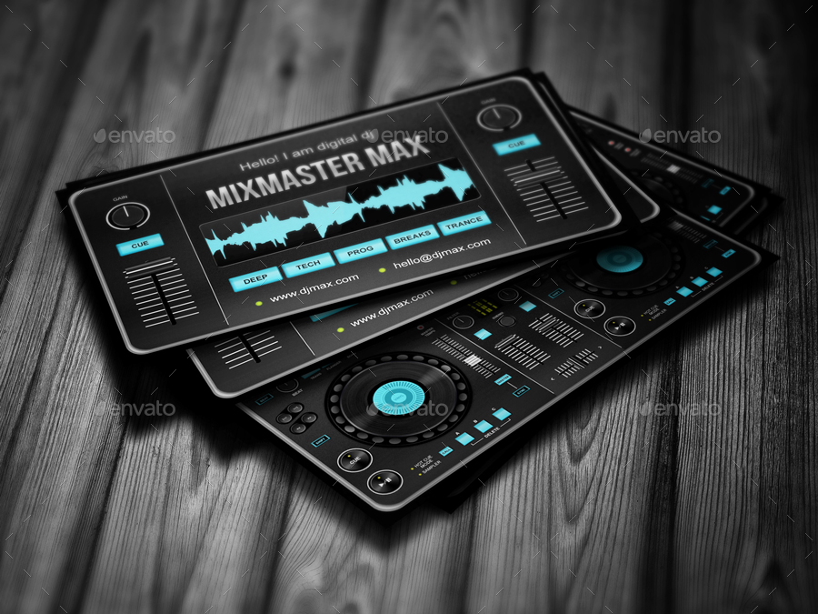 Digital dj business card by vinyljunkie graphicriver digital dj business card cheaphphosting Image collections
