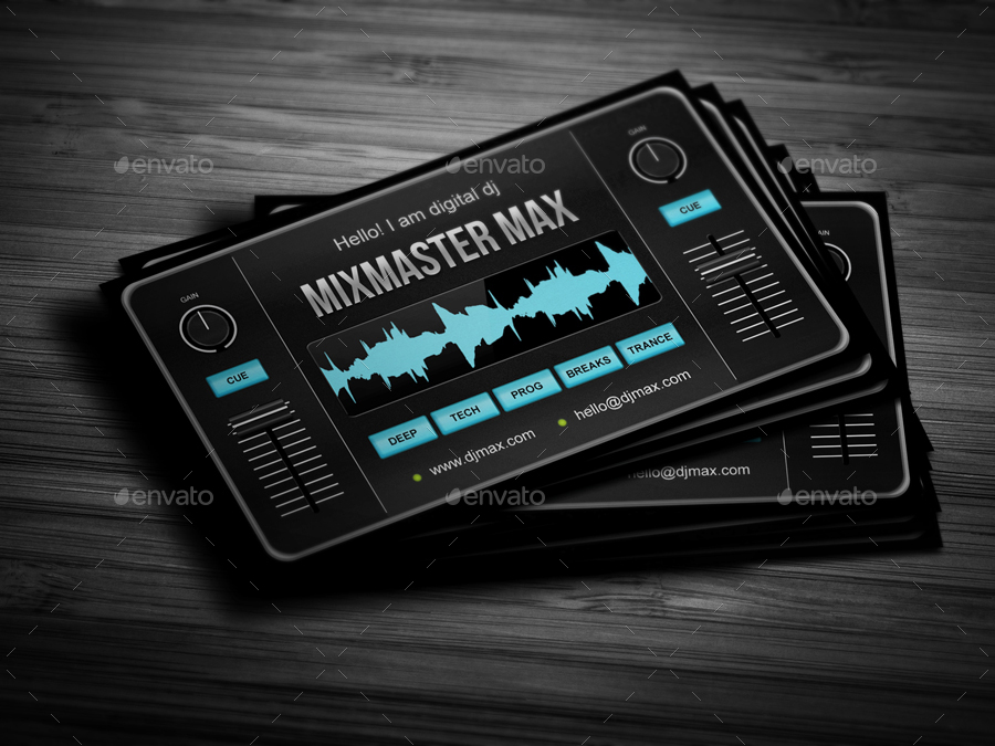 dj bussiness cards