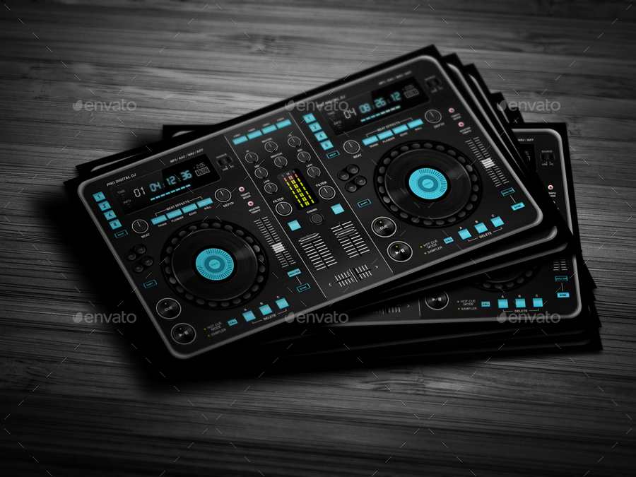 Digital Dj Business Card By Vinyljunkie Graphicriver