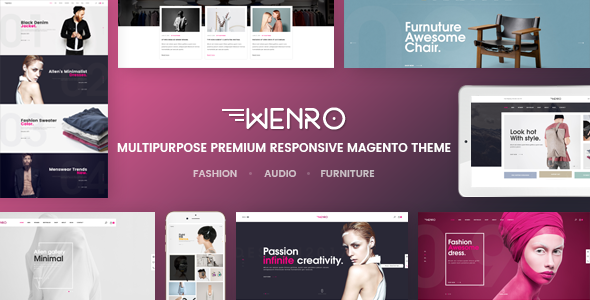 Wenro – Multipurpose Responsive Magento 2 Theme | 16 Homepages Fashion, Furniture, Digital and more