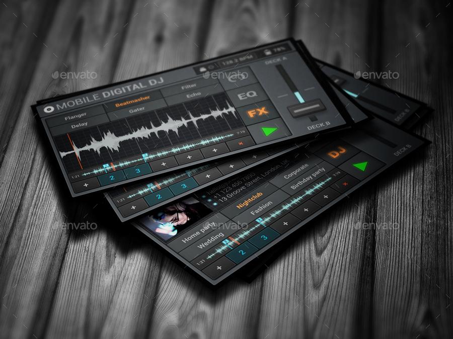 Mobile digital dj business card by vinyljunkie graphicriver mobile digital dj business card accmission Image collections