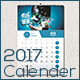 Clean 2017 Wall Calendar - GraphicRiver Item for Sale