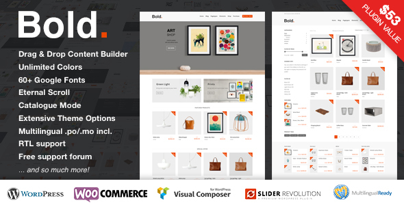 Bold. - A responsive WordPress & WooCommerce Theme