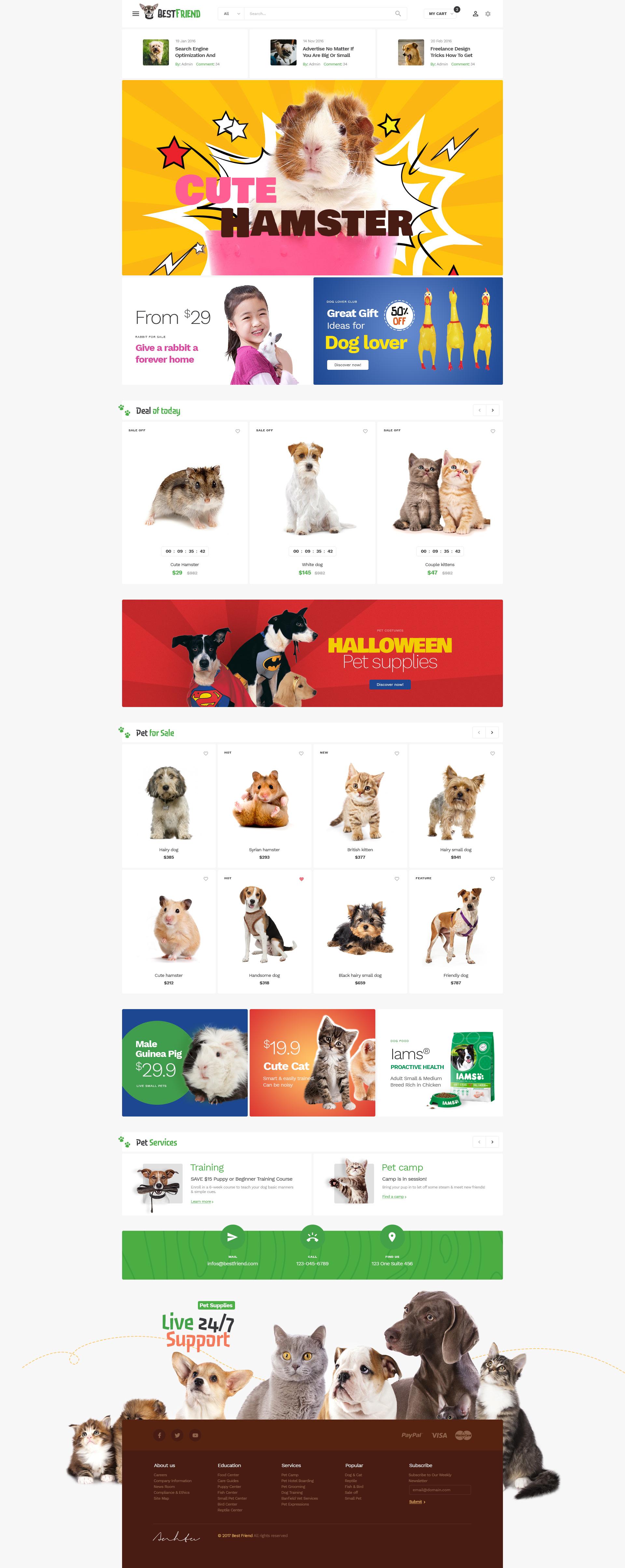 Bestfriend Pet Shop Psd Template By Themelexus Themeforest