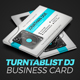 Turntablist DJ Business Card - GraphicRiver Item for Sale