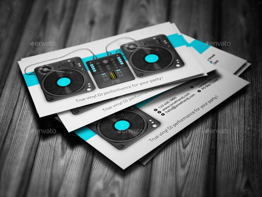 Turntablist Dj Business Card By Vinyljunkie Graphicriver