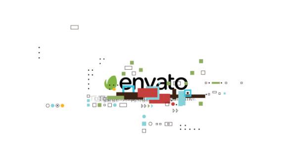 Videohive Shape Glitch Logo 18042563