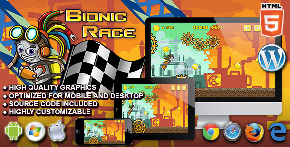 Bionic Race - HTML5 Running Game - CodeCanyon Item for Sale