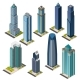 Isolated Isometric City Skyscraper Office Building - GraphicRiver Item for Sale