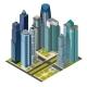 Isometric City Megapolis Skyscraper, Landmarks - GraphicRiver Item for Sale