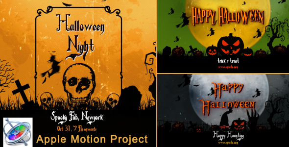 Halloween vintage openers apple motion by strokevorkz for Apple motion download