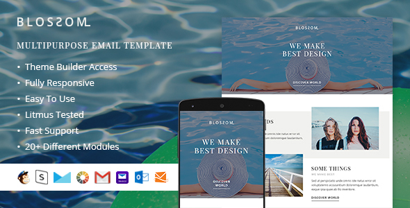 Blossom – Responsive Email + StampReady Builder - Email Templates Marketing