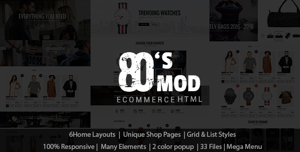 80's Clean Ecommerce HTML Template