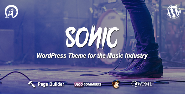 Sonic – WordPress Theme for the Music Industry