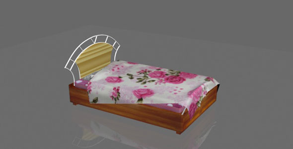 Bed (modern) - 3DOcean Item for Sale