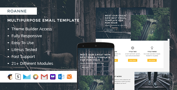 Roanne – Responsive Email + StampReady Builder - Email Templates Marketing