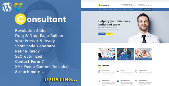 Consultant – Multipurpose Corporate WordPress Theme