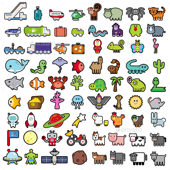 Travel Sticker Set - Miscellaneous Characters